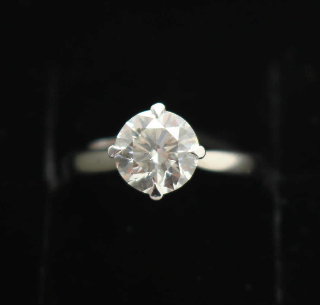 Platinum 1.55ct Certificated Solitare