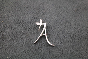 Silver Initial with CZ Detail 18ct Yellow Gold plated
