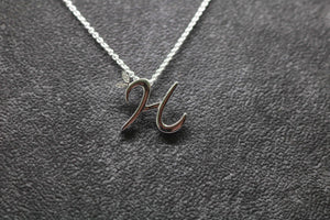 Silver Initial with CZ Detail
