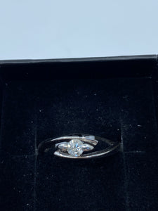 9ct White Gold & Diamond - HJ023