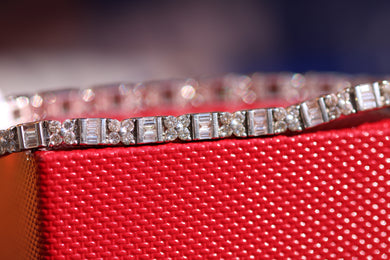 18ct White Gold Diamond Bracelet 4.00ct  - HJ096