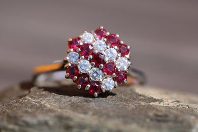 18ct White Gold Ruby & Diamond  - HJ095
