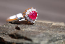 Load image into Gallery viewer, 14ct White Gold Ruby & Diamond - HJ090
