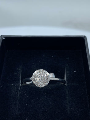 9ct White Gold & Diamond - HJ008