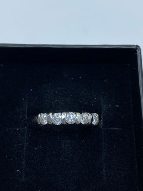 Platinum & Diamond Five Stone 0.50ct - HJ024