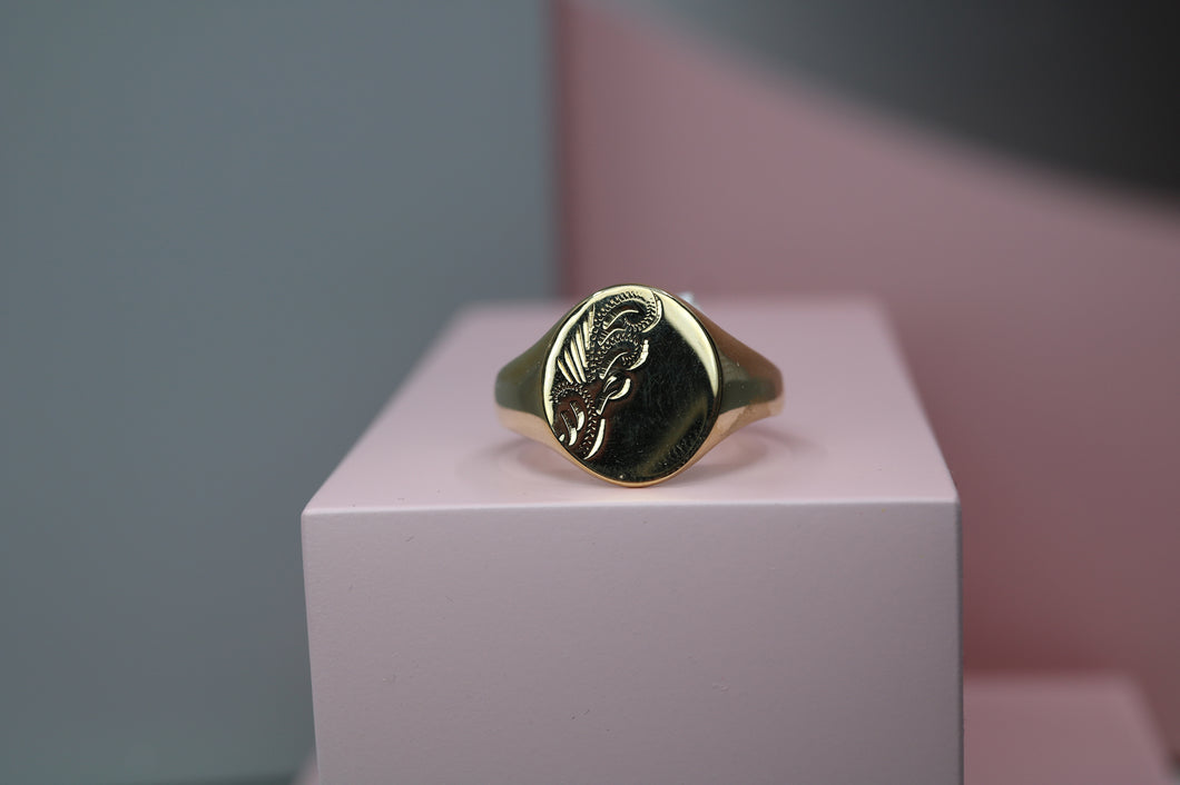 9ct Gents Signet Ring - HJ1003