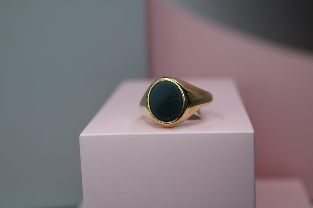 9ct Gents Bloodstone Ring - HJ1002