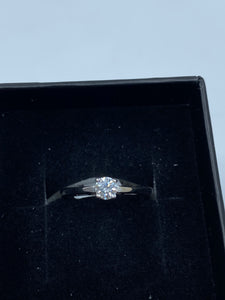 18ct White Gold & Diamond 0.25ct - HJ019