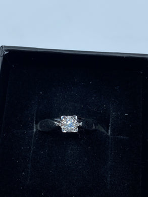 9ct White Gold & Diamond 0.12ct - HJ025