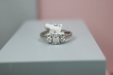 Platinum & Diamond Engagement Ring 0.56ct - HJ020