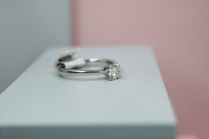 18ct White Gold Diamond Ring 0.51ct- HJ2088