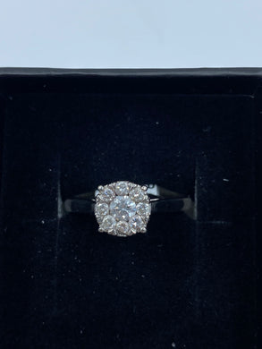 9ct White Gold & Diamond - HJ011
