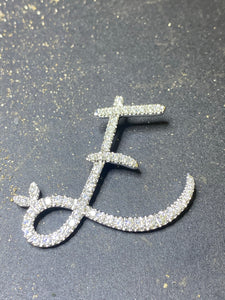 Sterling Silver & Full CZ Initial