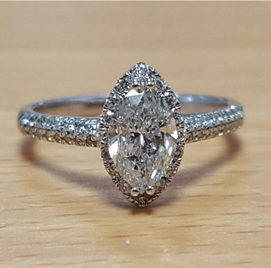 18ct Diamond Ring 1.24ct Certificated