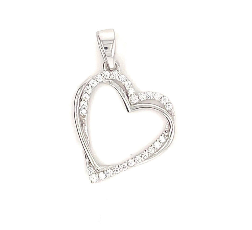 Sterling Silver Heart with CZ - MJ4001