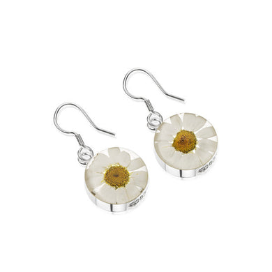 Flower earrings - Sterling silver - Made with real flowers