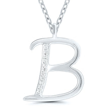 Load image into Gallery viewer, Diamond Initial Pendant - 9ct Rose Gold