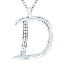 Load image into Gallery viewer, Diamond Initial Pendant - 9ct White Gold