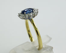 Load image into Gallery viewer, 18ct Yellow Gold Diamond & Sapphire Cluster