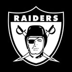 Throwback Raiders 4 Life Shield Decal/Window Sticker