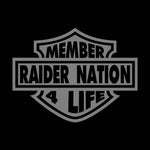 Harley Shield - 3'X5' Raiders 4 Life Banner