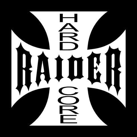 Hard Core Raiders 4 Life Iron Cross Decal/Window Sticker