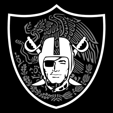 Mexican Shield - Raiders 4 Life Decal/Window Sticker