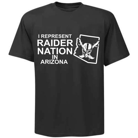 I Represent Raider Nation in Arizona - R4L Shirt