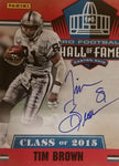 Autographed Tim Brown Hall of Fame Card