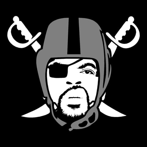 Ice Cube - Raiders 4 Life Decal/Window Sticker