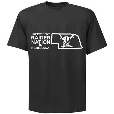 I Represent Raider Nation in Nebraska - R4L Shirt