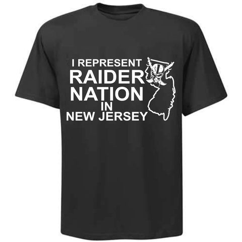 I Represent Raider Nation in New Jersey - R4L Shirt