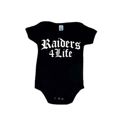 Old English - Raiders 4 Life Kids Shirt or Onesie