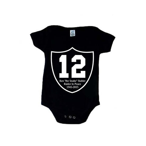 "RIP Ken ""the Snake"" Stabler Shield - Raiders 4 Life Kids Shirt or Onesie"