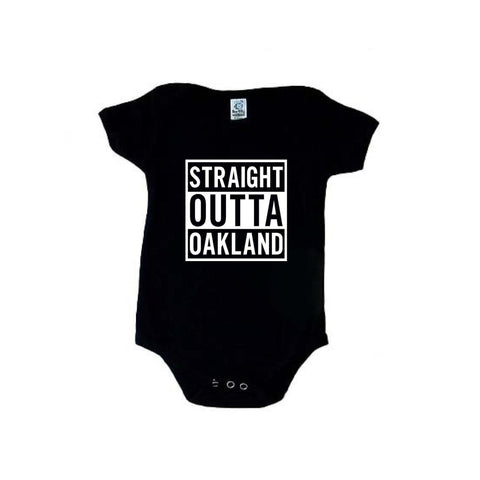 Straight Outta Oakland - Raiders 4 Life Kids Shirt or Onesie