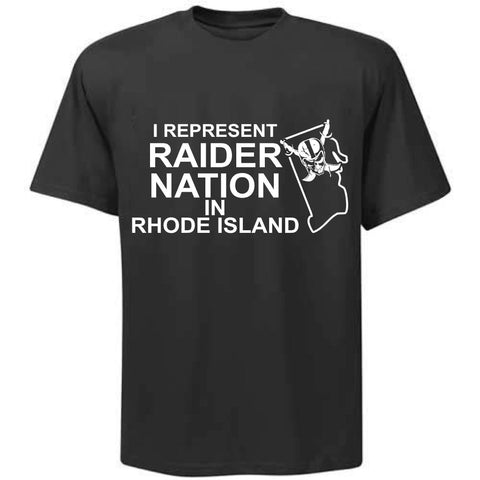 I Represent Raider Nation in Rhode Island - R4L Shirt