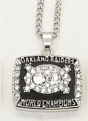 1980 Oakland Raiders Super Bowl XV Ring Necklace