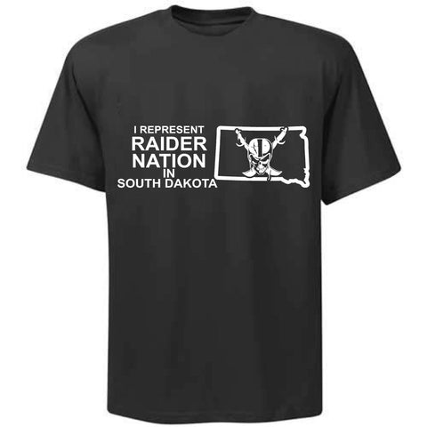 I Represent Raider Nation in South Dakota - R4L Shirt