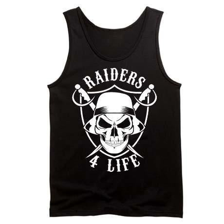 Cholo Skull & Shield Raiders 4 Life Tank Top