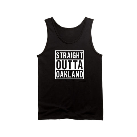 Straight Outta Oakland - Raiders 4 Life Tank Top
