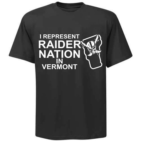 I Represent Raider Nation in Vermont - R4L Shirt