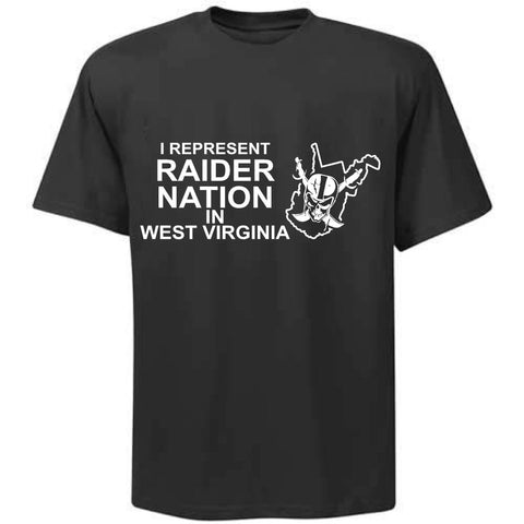 I Represent Raider Nation in West Virginia - R4L Shirt