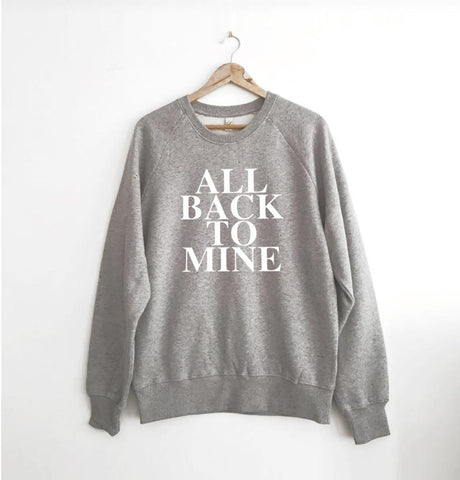 All Back To Mine Marl Grey Sweatshirt