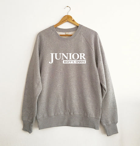 Junior Boys Own Logo Grey Marl Sweatshirt
