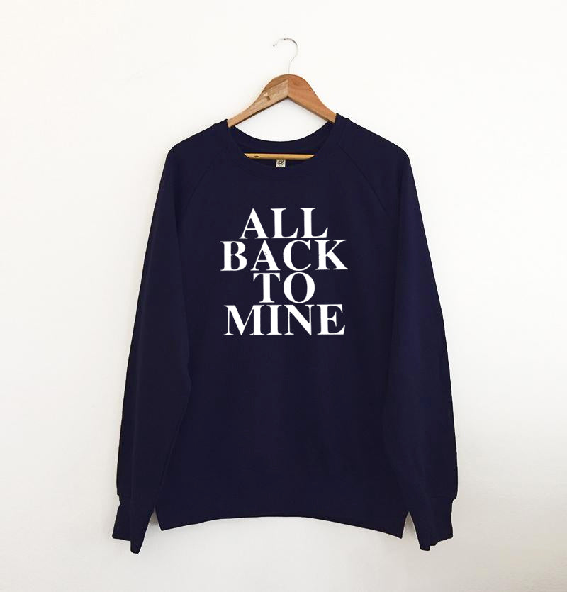 All Back To Mine Navy Sweatshirt x M & L left x