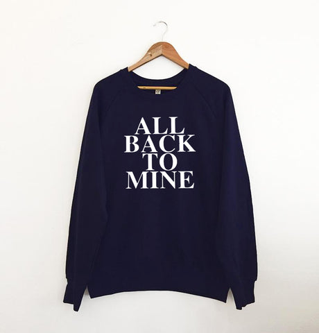 All Back To Mine Navy Sweatshirt
