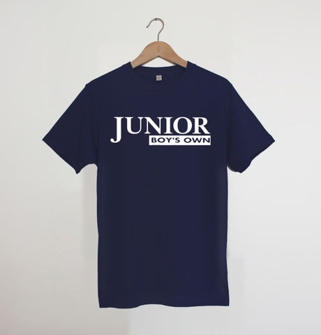 Junior Boys Own Logo Navy / White