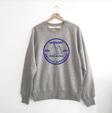 Autentico Original 1987 Grey Marl Sweatshirt / Blue print xx L left xx