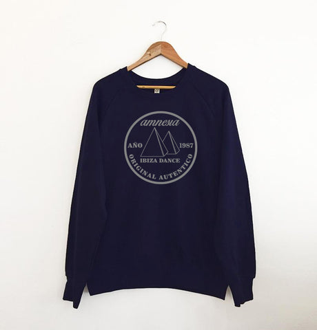 Autentico Original 1987 Navy Sweatshirt / Grey print