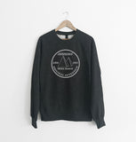 Autentico Original 1987 Black Twist Sweatshirt / Grey print